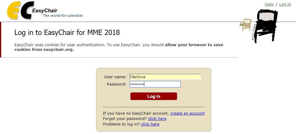 Log in to EasyChair for MME 2018